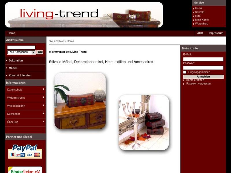 Screenshot von http://www.living-trend.com/